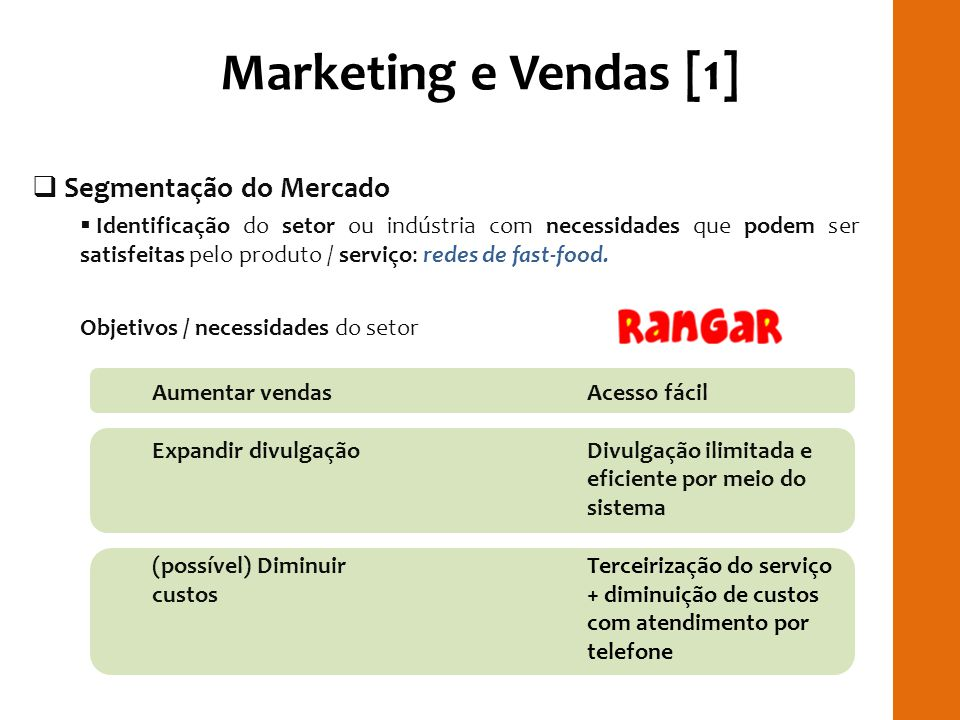 Marketing e Vendas [1] RILAY Segmentação do Mercado